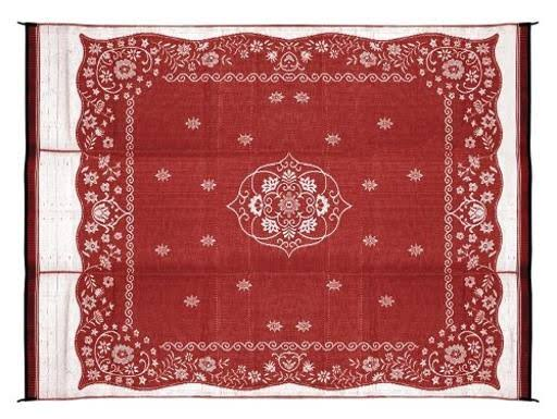 Camco Outdoor Mat 9' x 12' Burgundy Oriental 42852