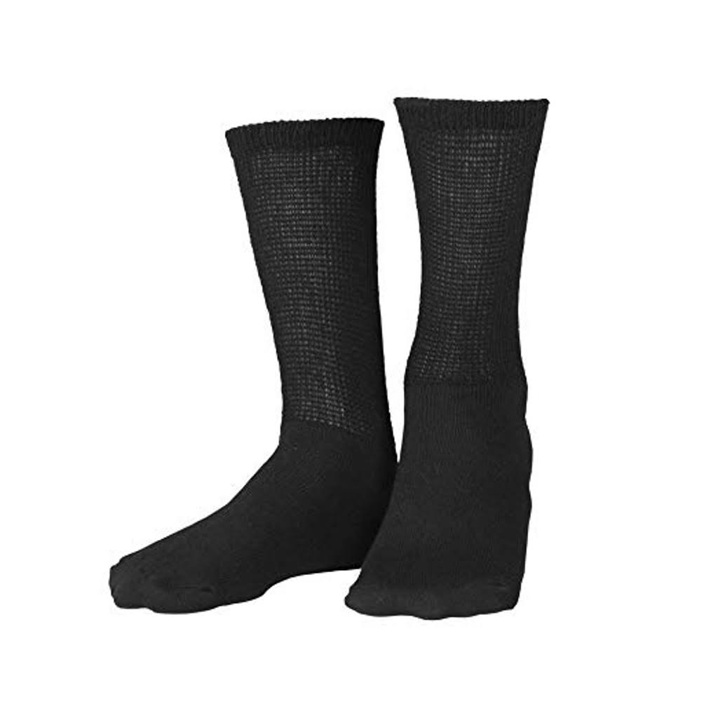 Truform Diabetic Socks - Black, Large