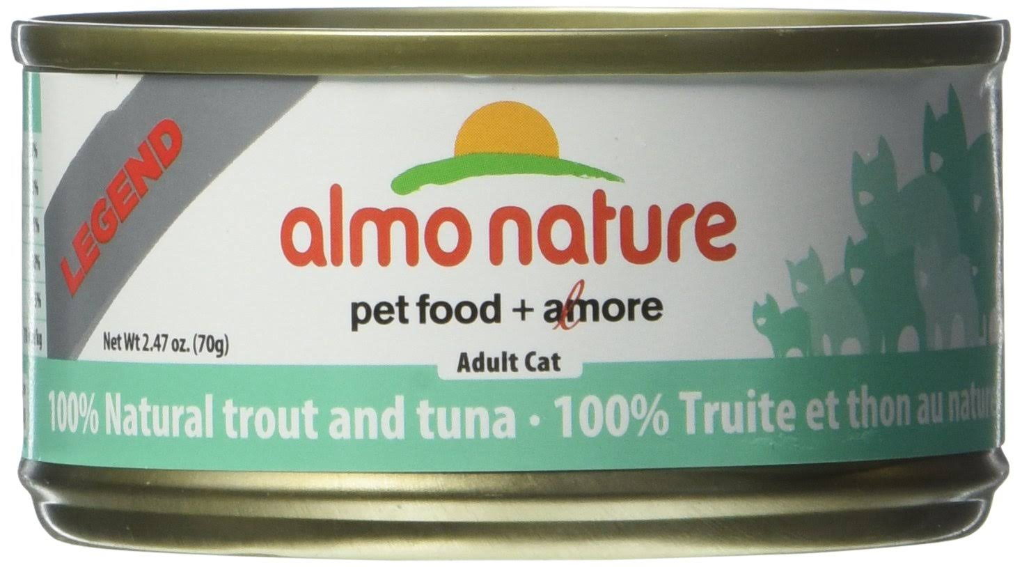 Almo Nature Trout and Tuna Food (24 Cans per case), 2.47 oz.