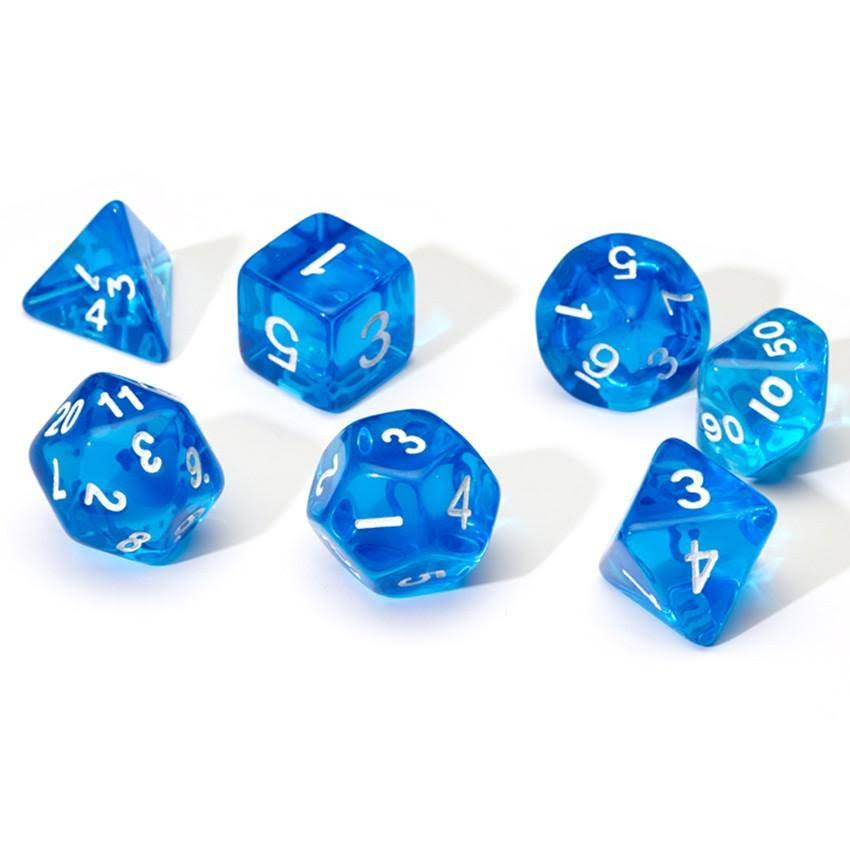 Sirius Dice - Blue Translucent 7 Die Set