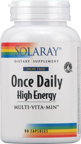 Solaray Once Daily High Energy Iron-free Supplement - 90 Count