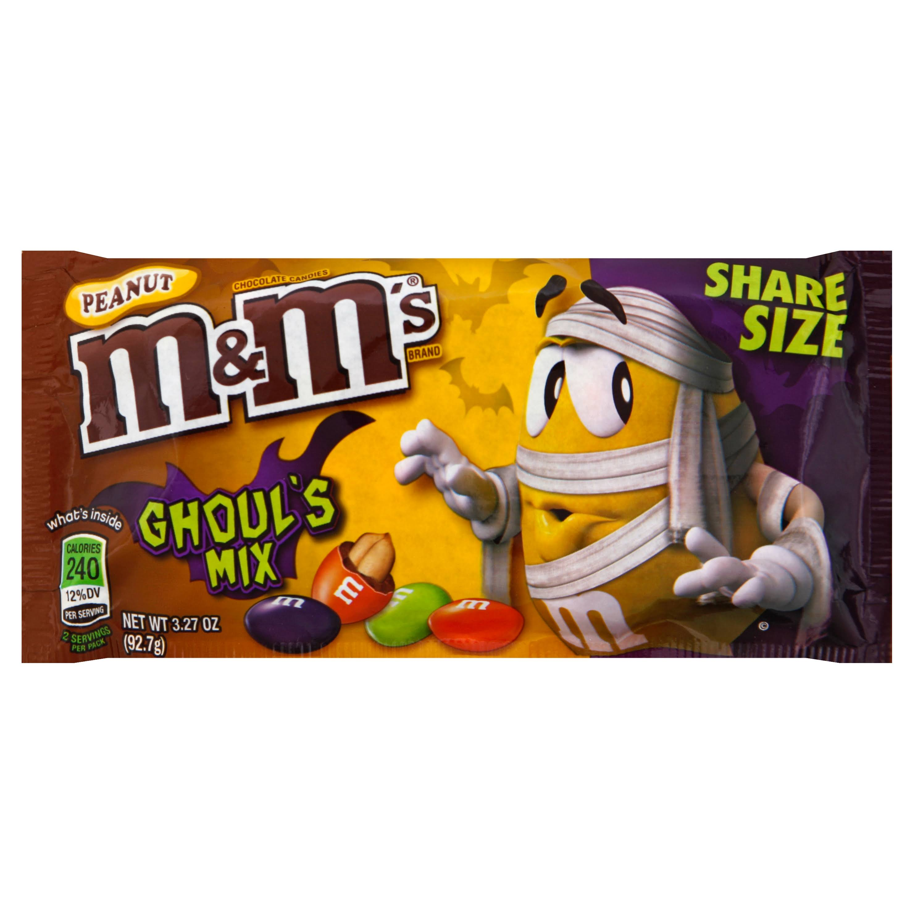 M & M Chocolate Candies, Peanut, Ghoul's Mix, Share Size - 3.27 oz