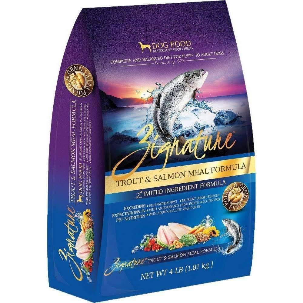 Zignature 4 lbs Trout Salmon Dry Dog Food