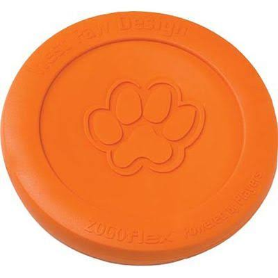 "West Paw Design Zogoflex Zisc Guaranteed Tough Flying Disc Dog Play Toy - 6.5"", Small, Tangerine"