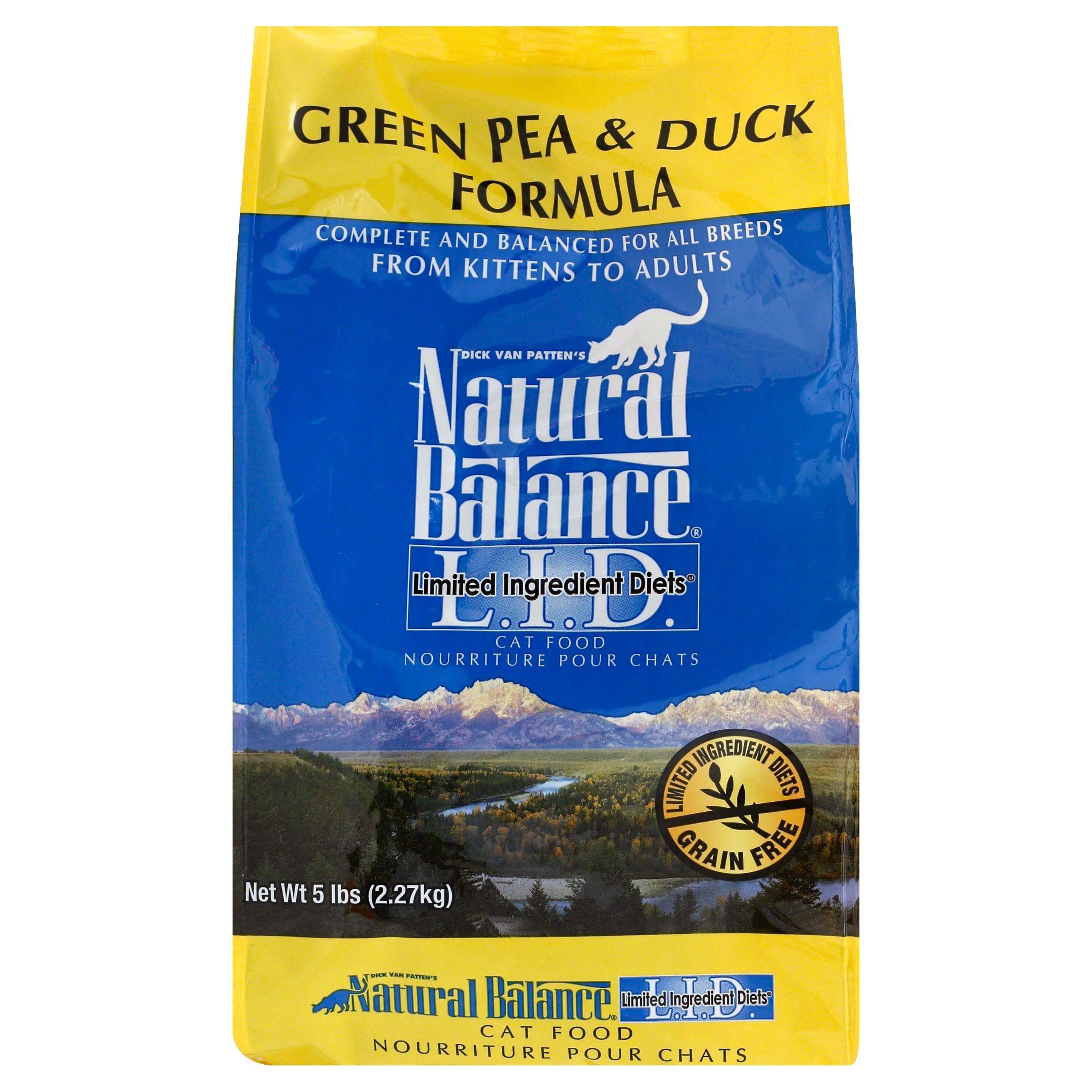 Natural Balance Cat Food - Green Pea and Duck