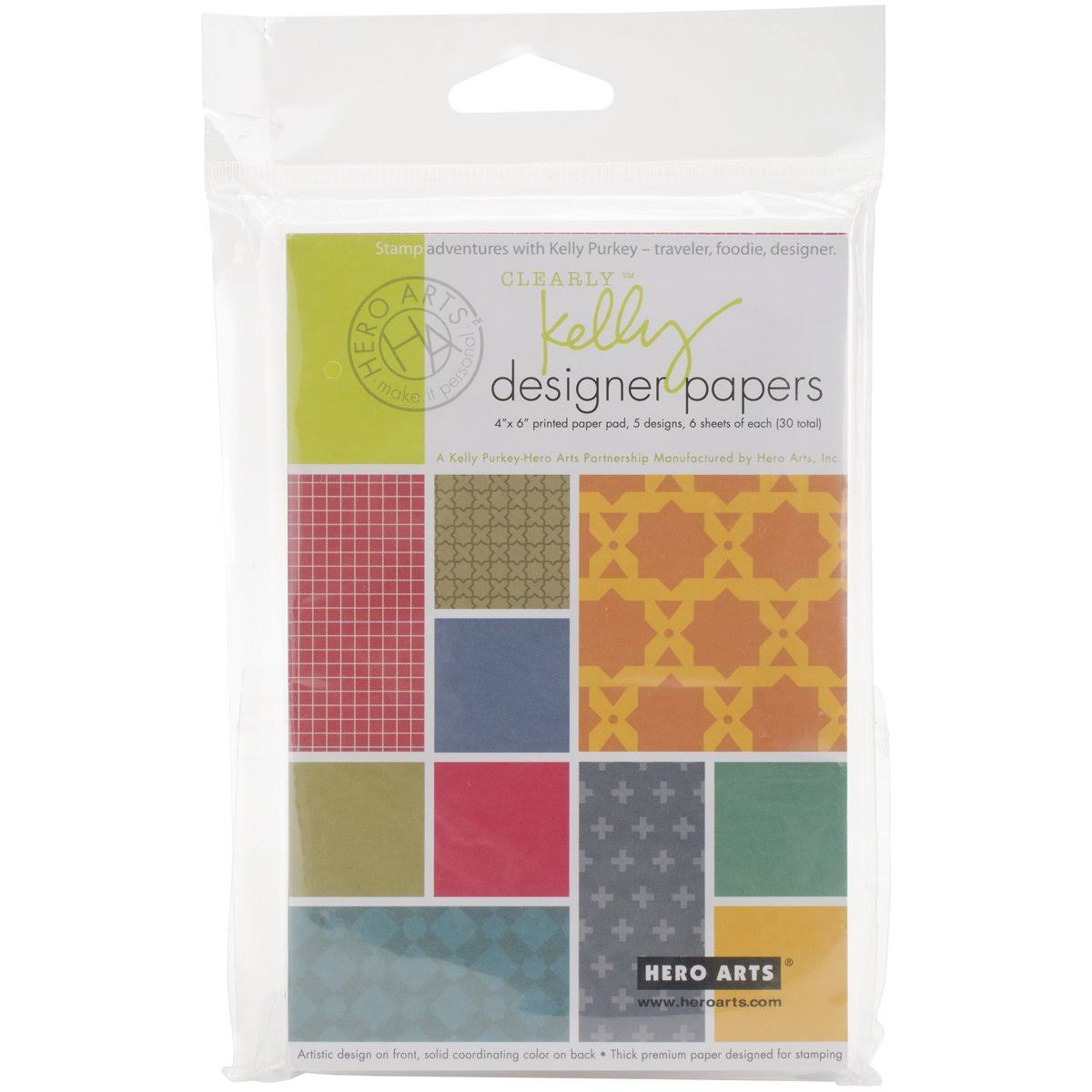 Hero Arts Designer Paper Pad Clearly Kelly 4x6