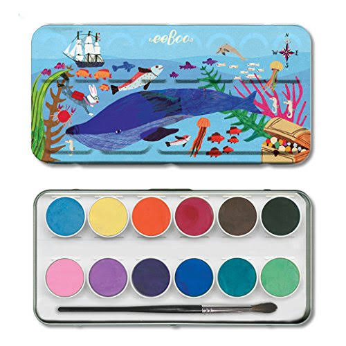 eeBoo Watercolor Paint Set in The Sea