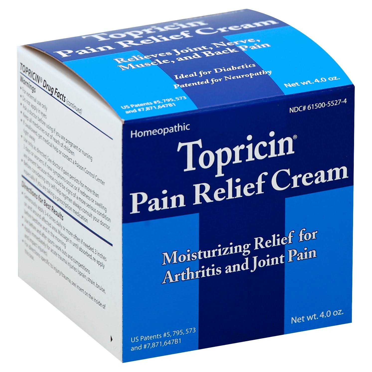 Topricin Pain Relief Cream - 4oz