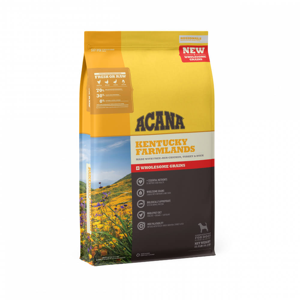 ACANA + Wholesome Grains Kentucky Farmlands Recipe with Chicken, Turkey & Duck Dry Dog Food 22.5-lb