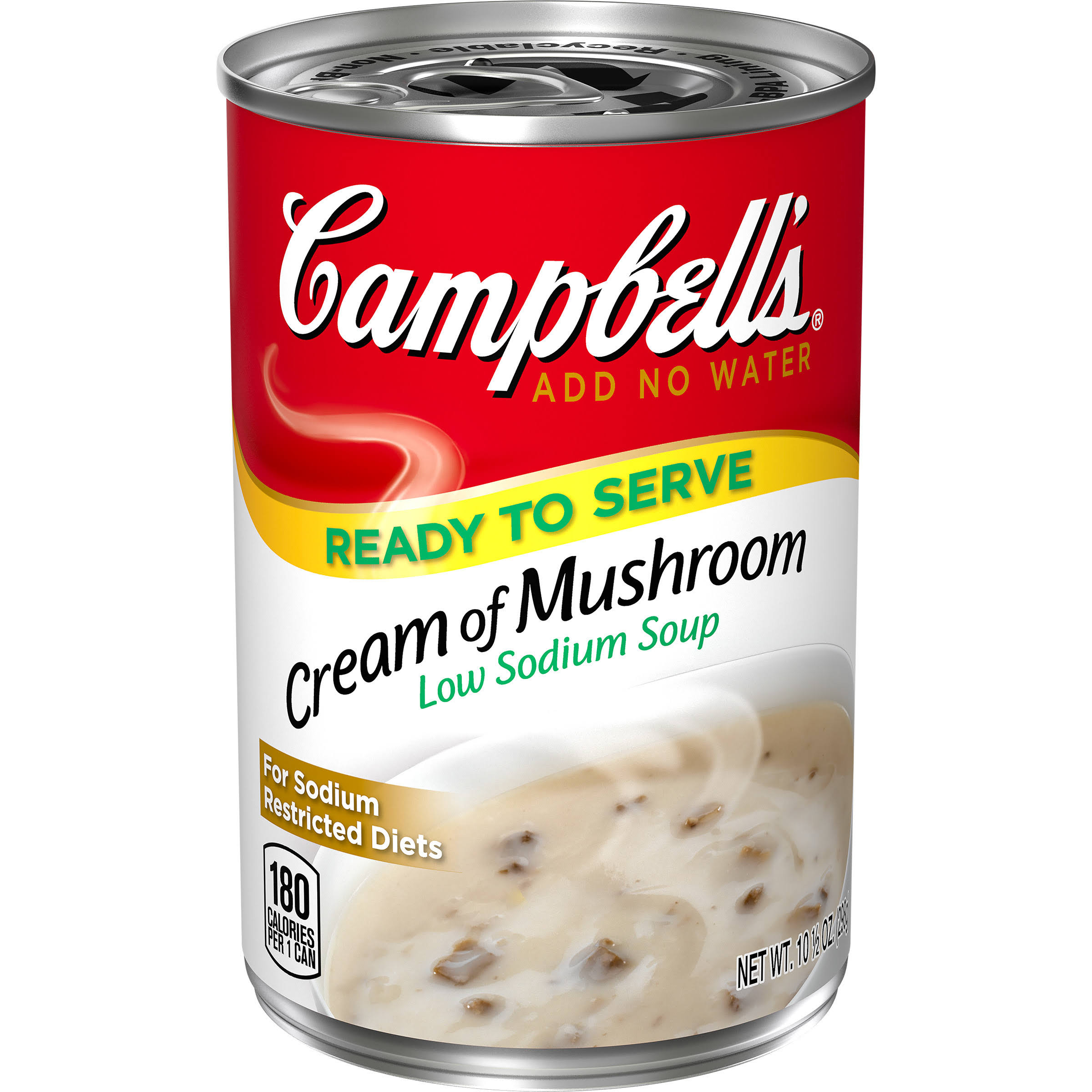Campbell's Low Sodium Soup - Cream of Mushroom, 10.5oz