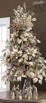 Frontgate Christmas Trees by White Christmas Tree Decorated With Light Gold Silk Poinsettias