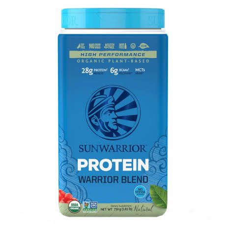 Sunwarrior Warrior Blend Raw Plant-Based Organic Protein - Natural, 30 Servings