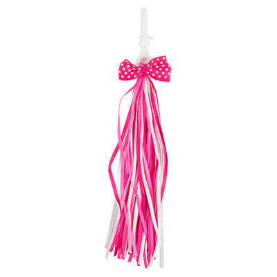 Sunlite Streamers Bicycle Handle Bow - Satin, Pink