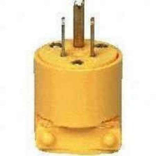 Cooper Wiring BP4867 Devices Vinyl Grounding Plug - Yellow, 125V