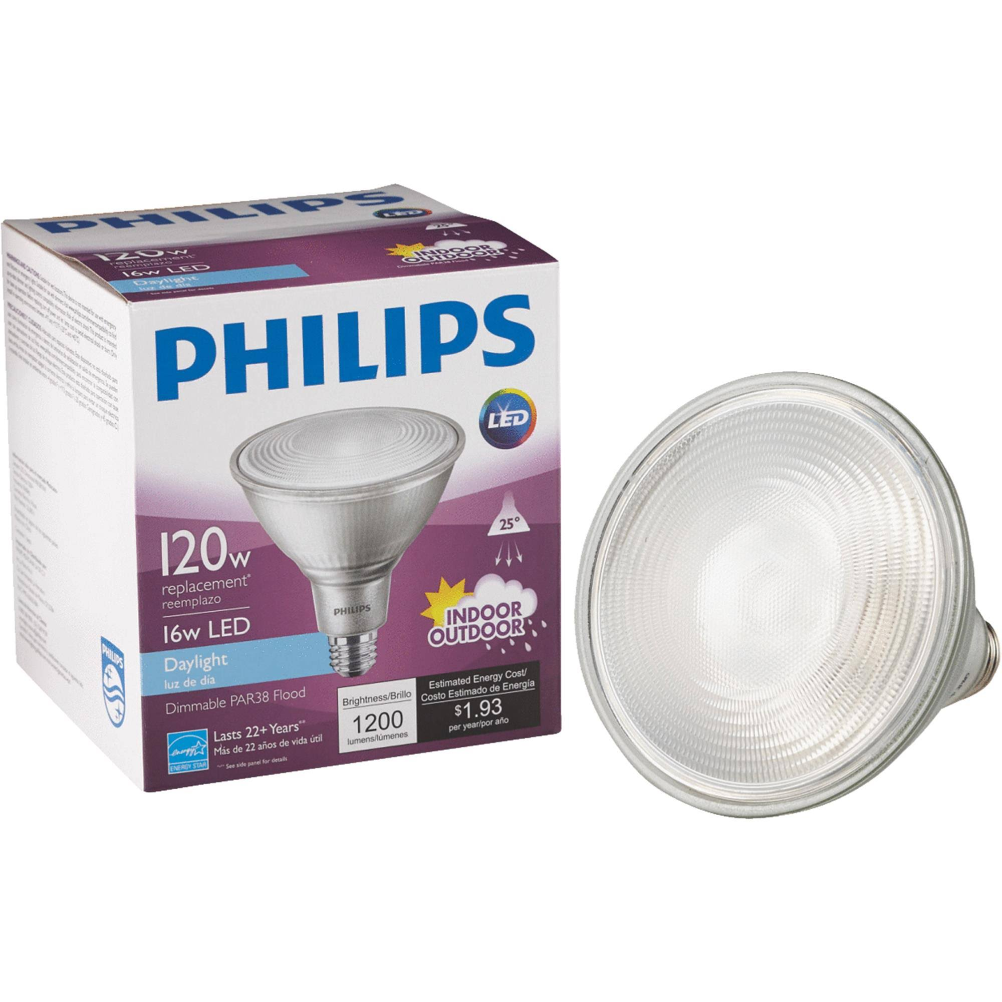 Philips PAR38 Medium Dimmable LED Floodlight Light Bulb - 120W