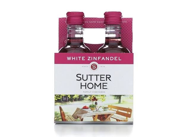 Sutter Home White Zinfandel, California - 4 pack, 187 ml bottles