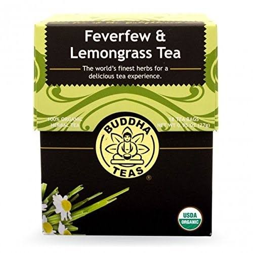 Buddha Teas Tea - Feverfew & Lemongrass, 18 Tea Bags