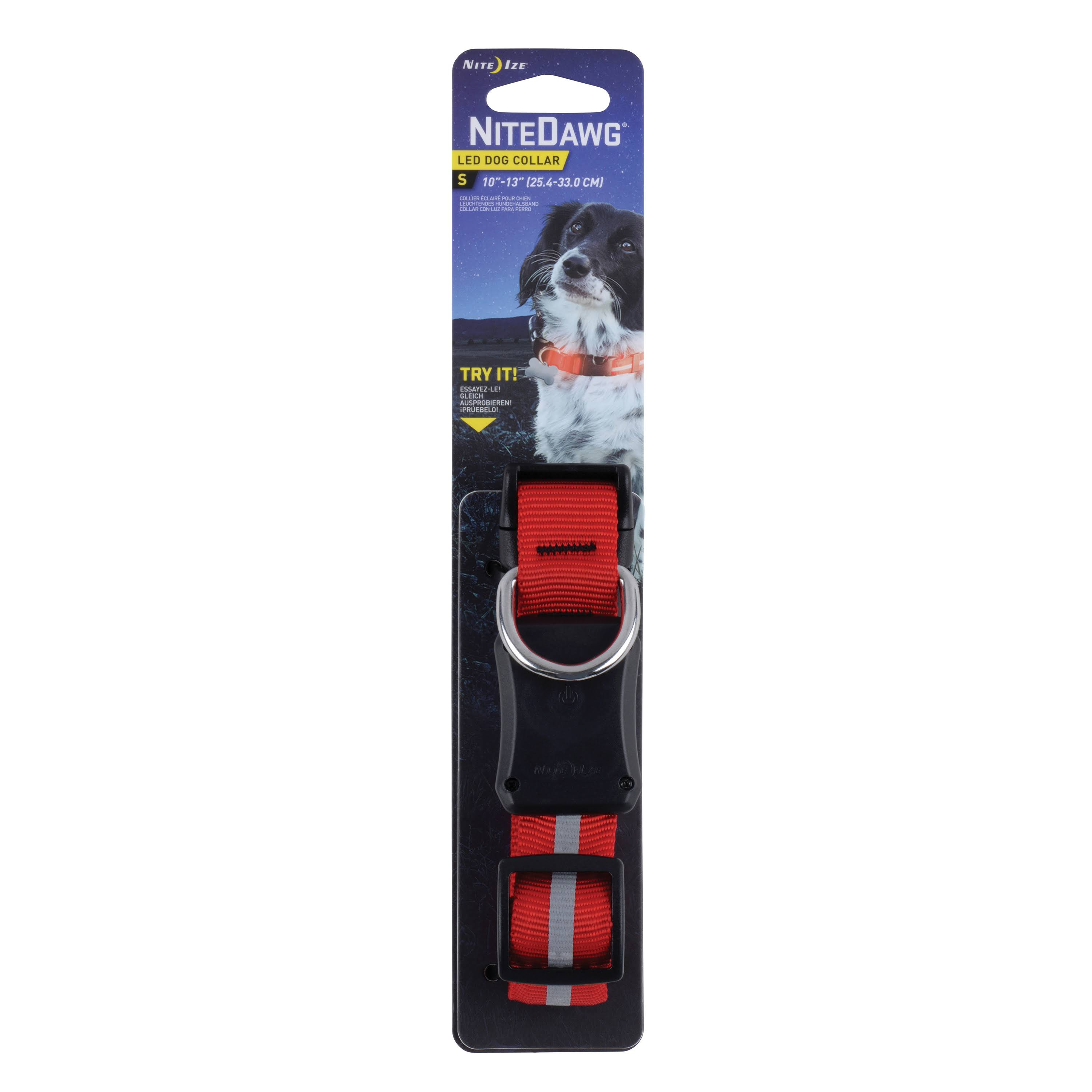 Nite Ize Nite Dawg LED Dog Collar - Red