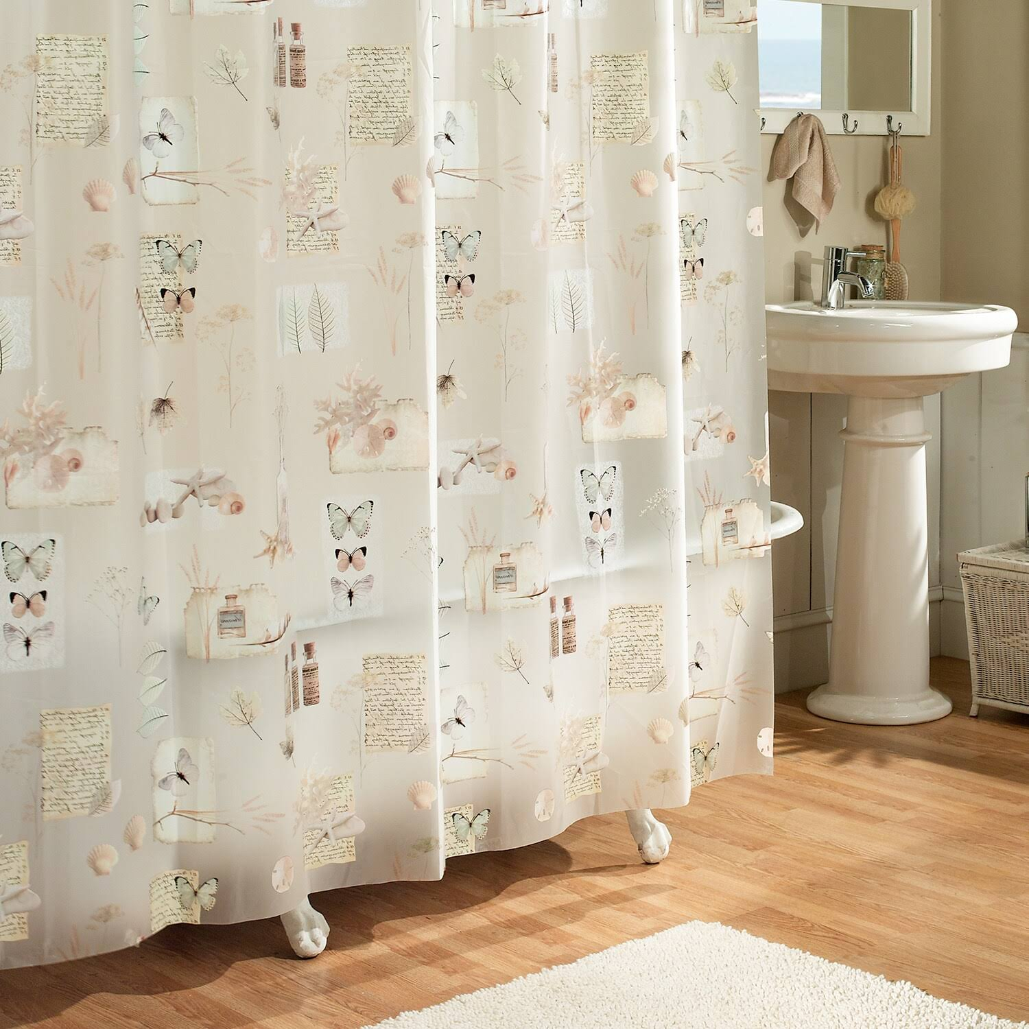 Excell Natures Moments Floral Shower Curtain