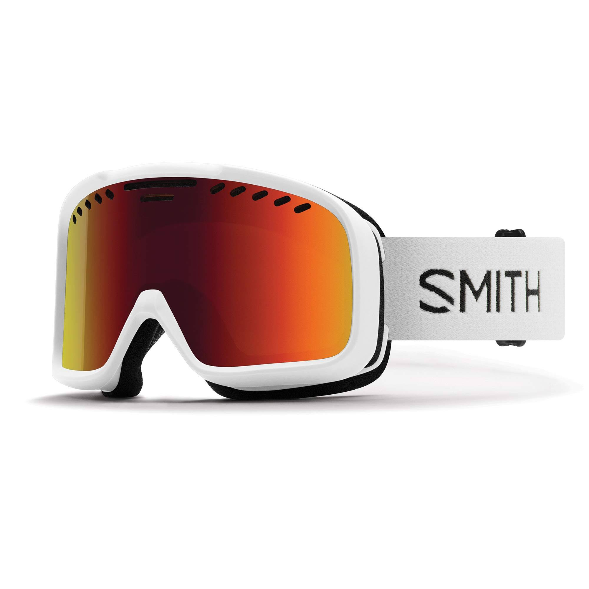 Smith Project Ski Goggles - White / Red Sol-X Mirror