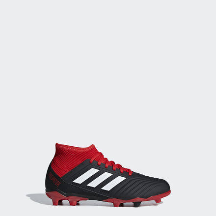 Adidas Predator 18.3 Youth FG Soccer Cleats (Black/White/Red) - 5