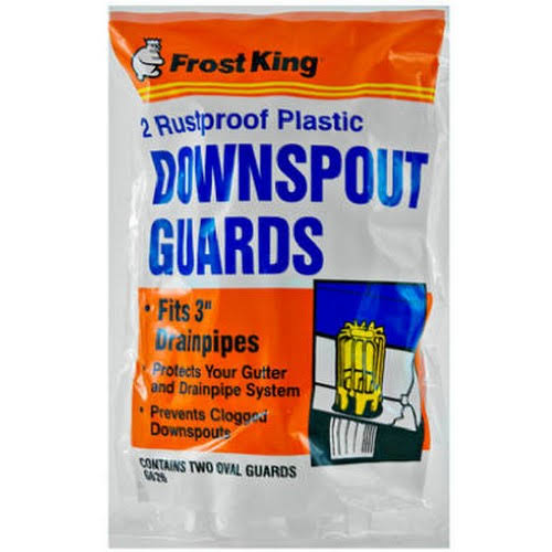 Thermwell Frost King Plastic Downspout Guards - 2 Pack