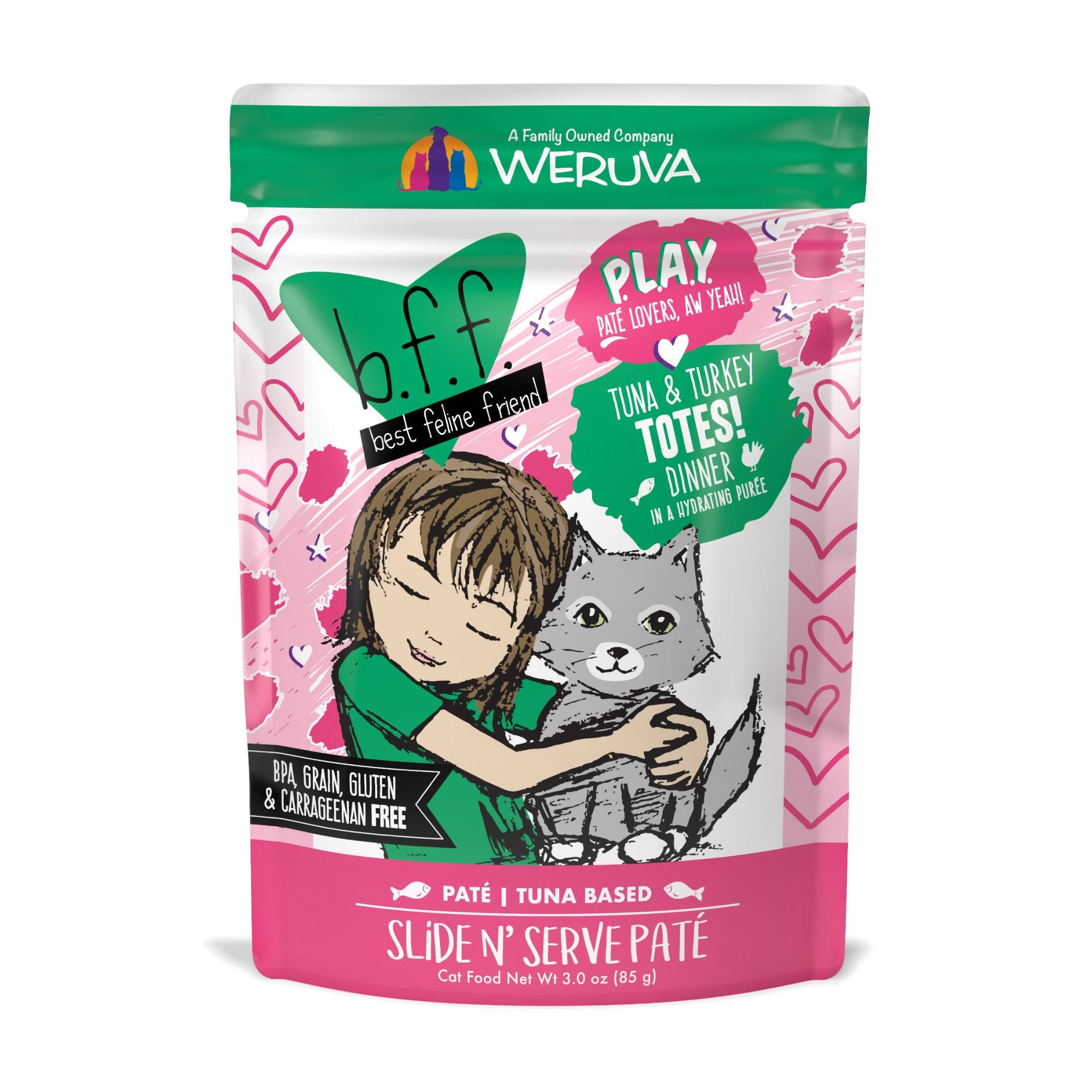 Best Feline Friend Play! Totes 3.0 oz Pouch