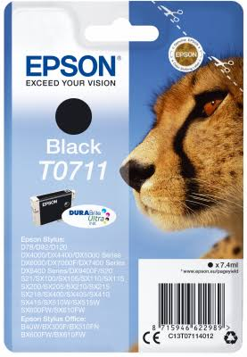 Epson T0711 Inkjet Cartridge - Black