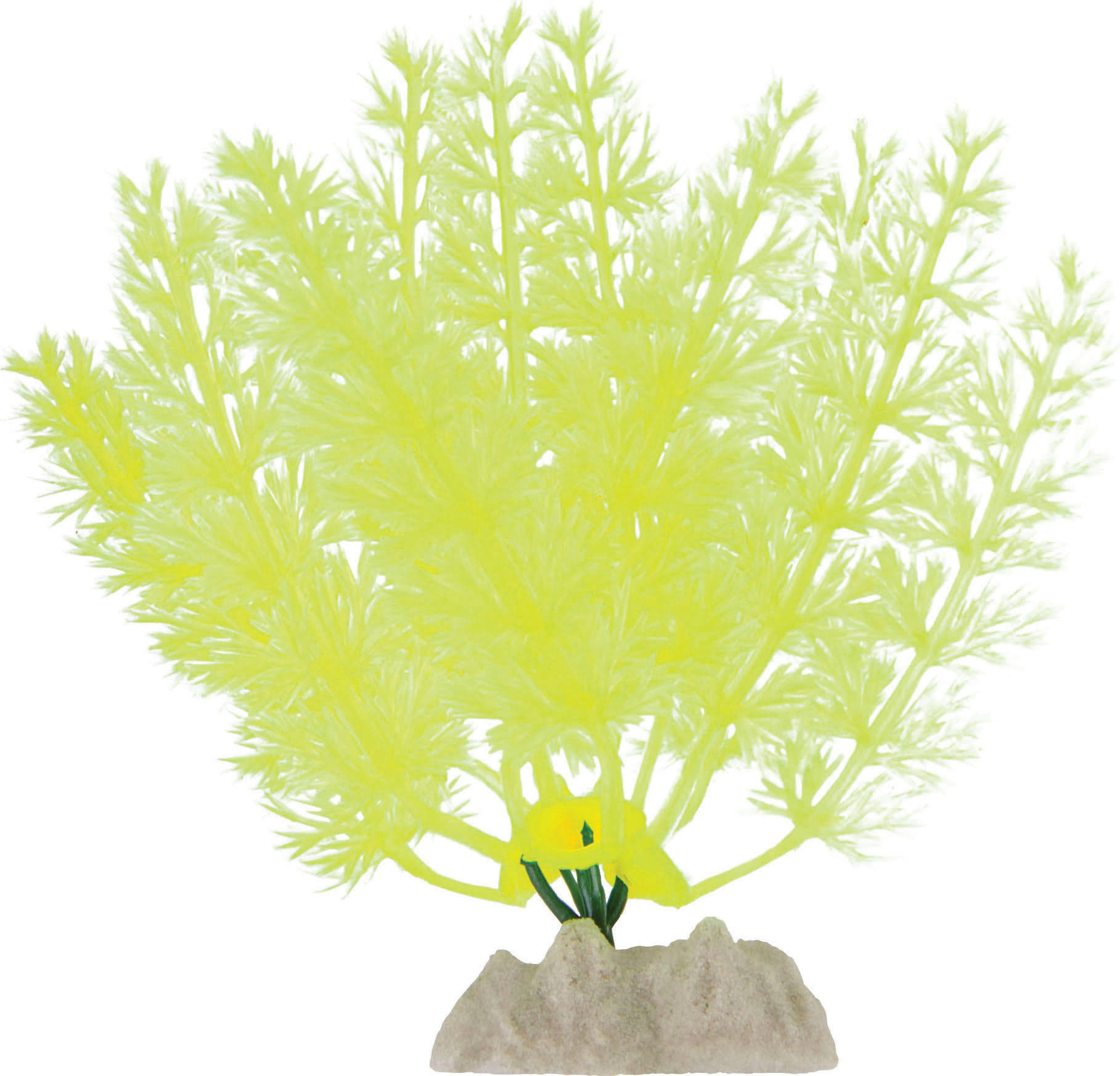 Glofish Plastic Aquarium Plant - Yellow