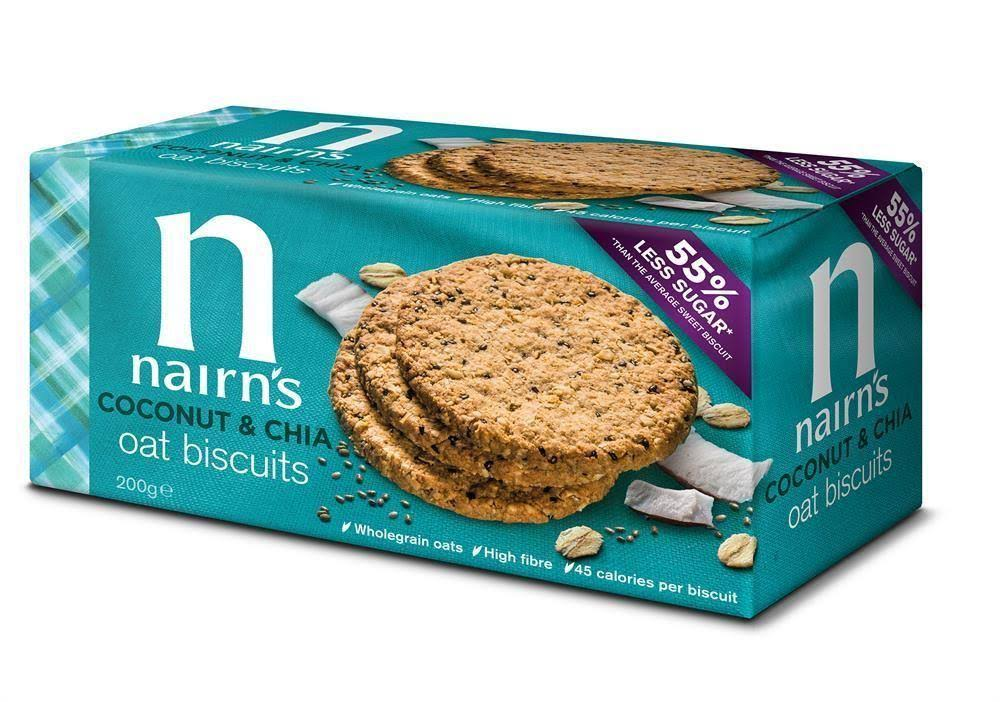 Nairns Coconut & Chia Oat Biscuit - 200g
