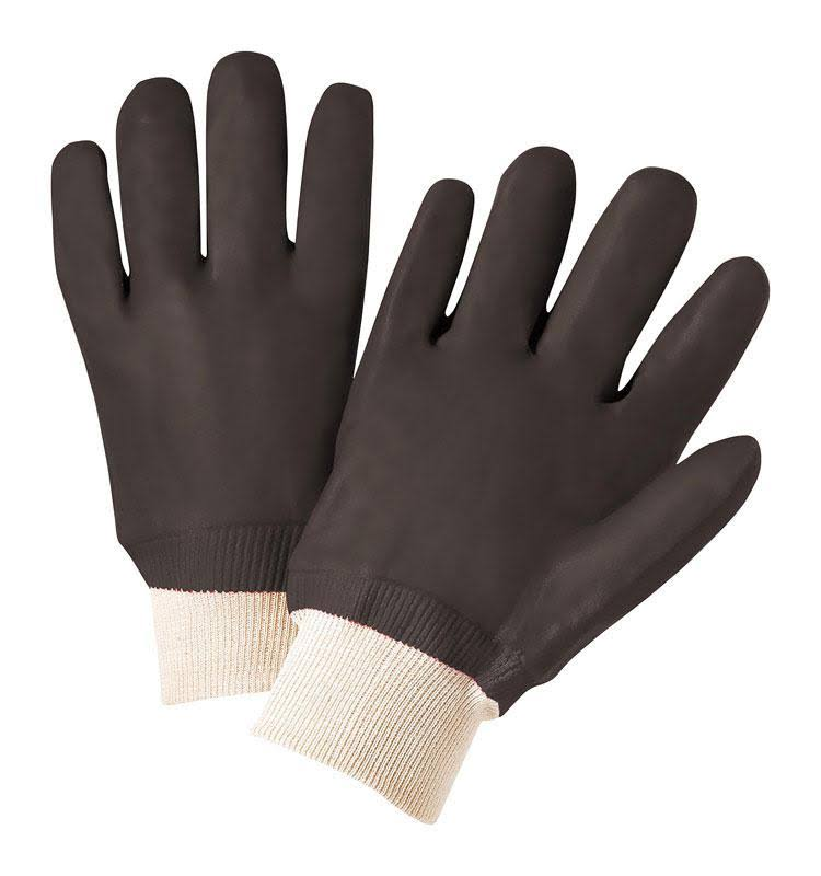 West Chester 12000 Pvc Coated Interlock Lined Gloves - Black, Large