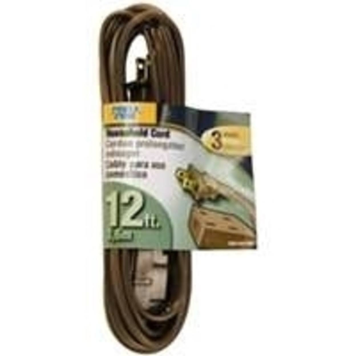 Powerzone OR670612 SPT 2 Extension Cord, 16/2, 12 ft
