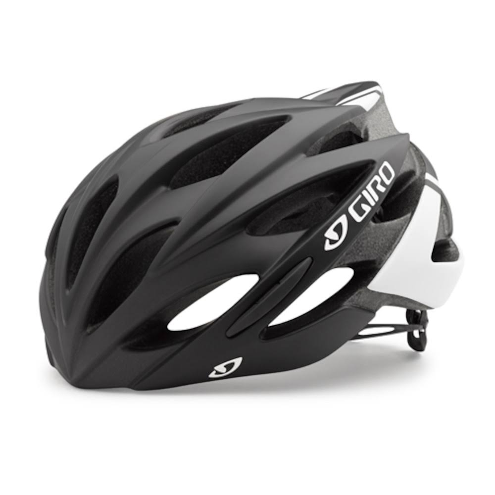 Giro Savant Road Bike Helmet - Matte Black and White, Small