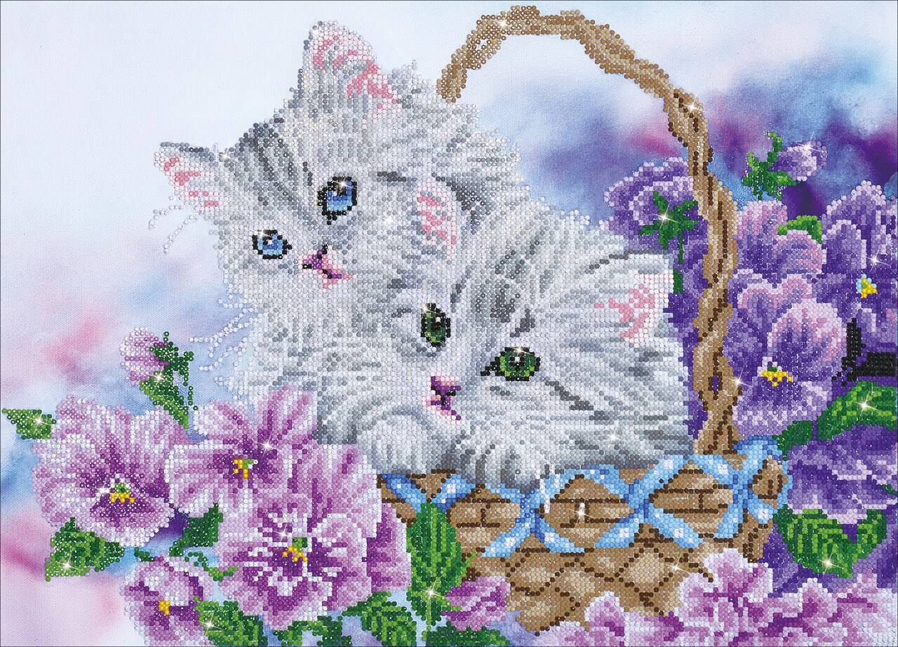 Diamond Dotz Diamond Embroidery Facet Art Kit - Kitty Basket