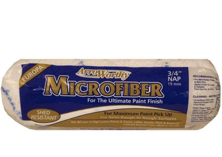 "Arroworthy 9MFR6 Microfiber Nap Roller Cover - 9"" x 3/4"""