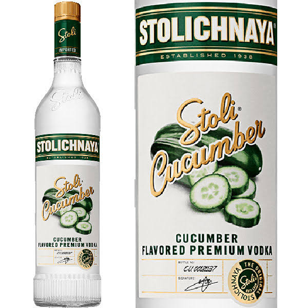 Stolichnaya Vodka, Premium, Cucumber Flavored - 750 ml