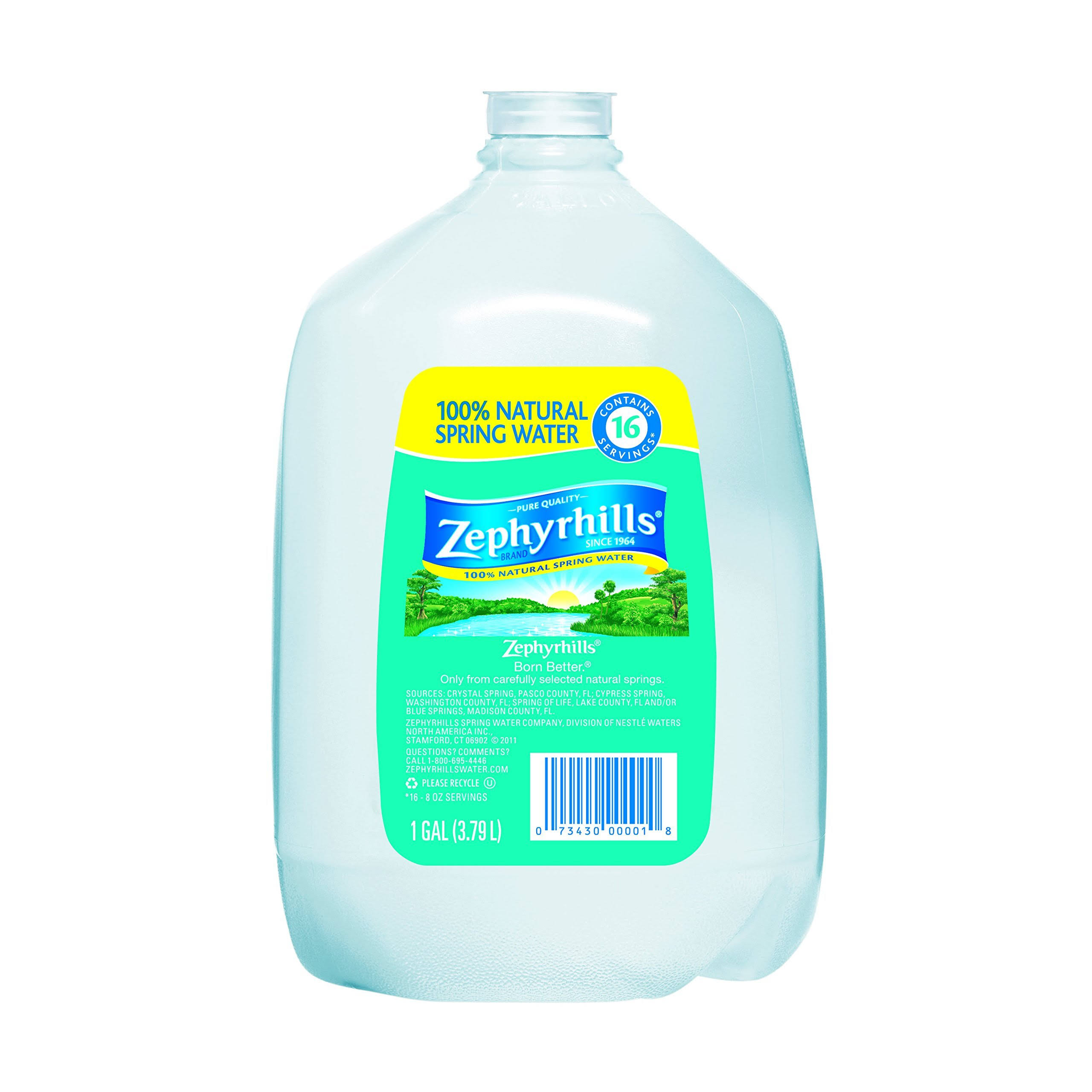 Zephyrhills Natural Spring Water - 1 Gallon