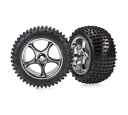 Traxxas Rear Chrome Tracer Wheels Bandit RC Tires