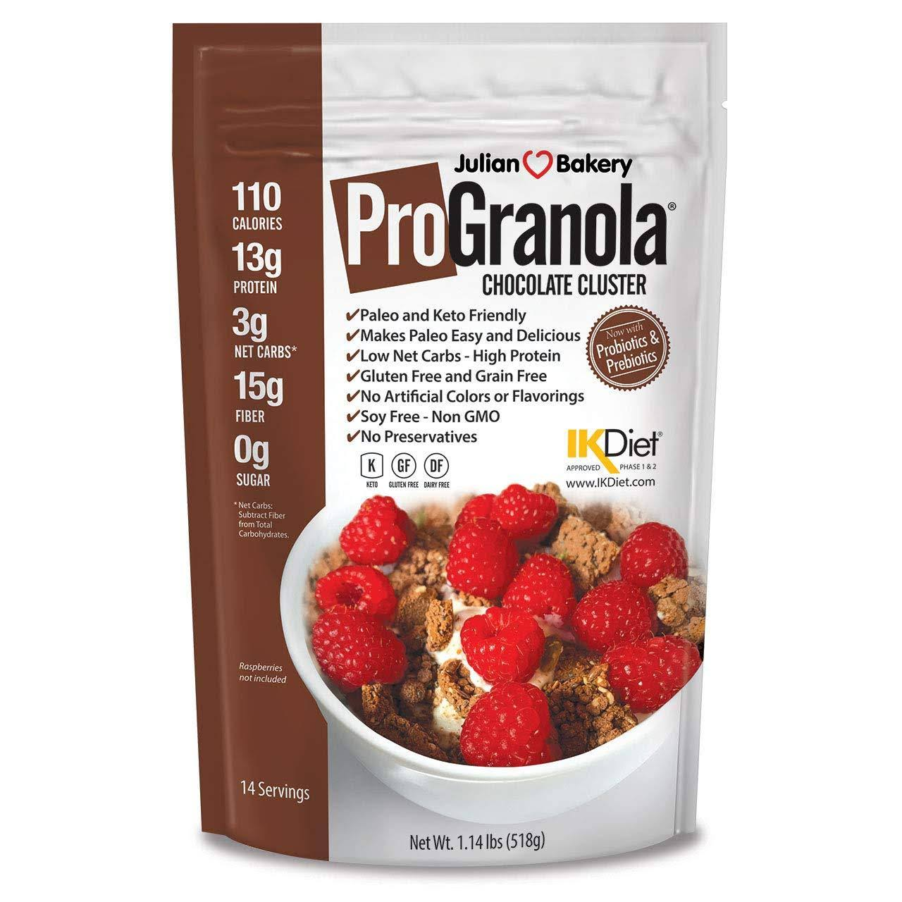 Julian Bakery ProGranola Cereal | Chocolate | 13G Protein | Paleo | 3 Net Carbs
