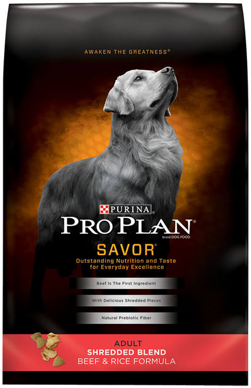 Purina Pro Plan Savor Dry Dog Food - Shredded Blend Beef And Rice Formula