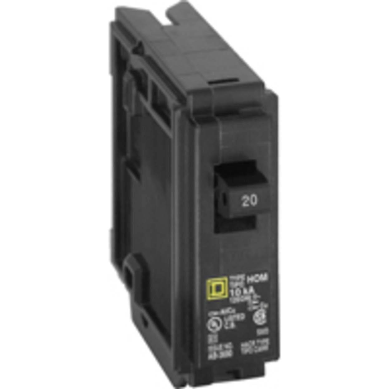 Square D Homeline Single Pole Circuit Breaker - 20amp