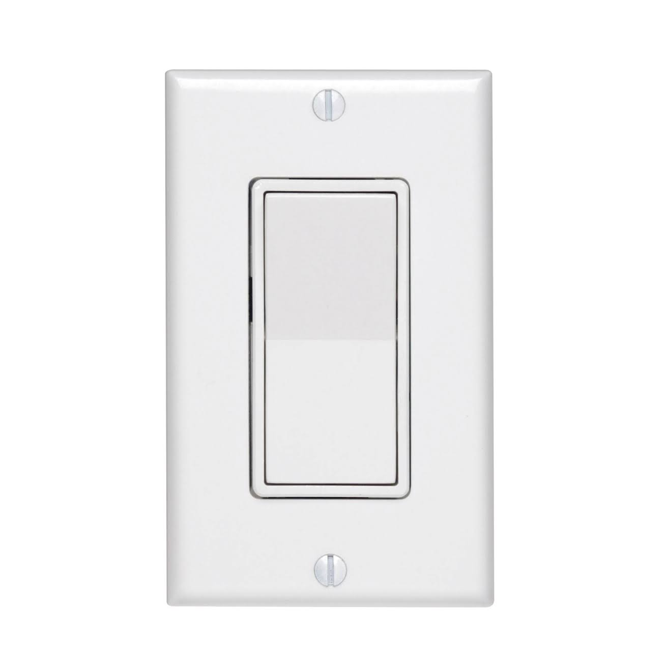 Leviton Rocker Switch - with Wall Plate, Single Pole, 3 Way, 15 Amp