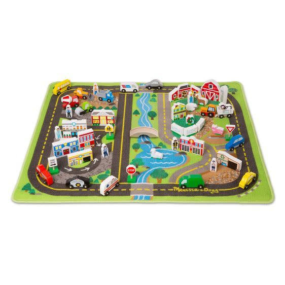 Melissa & Doug - Deluxe Road Rug Play Set