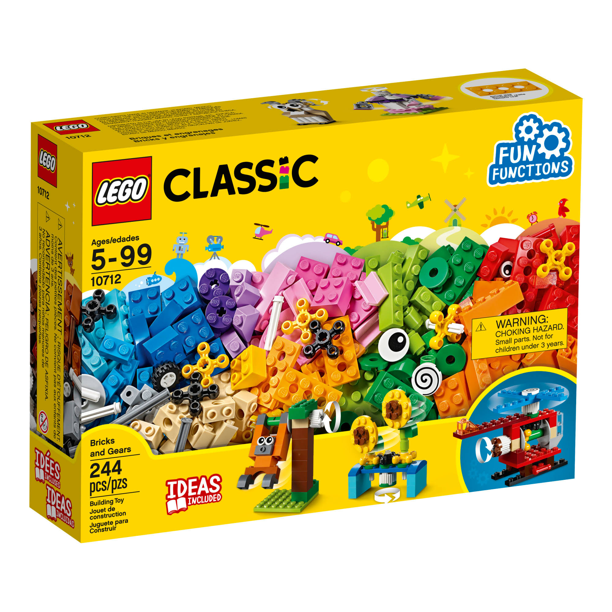 LEGO 10712 Classic Bricks and Gears Building Toy - 244pcs