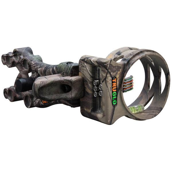 Tru Glo Carbon XS Xtreme Archery Bow Hunting Sight - Realtree Camo Black, 5 Pin
