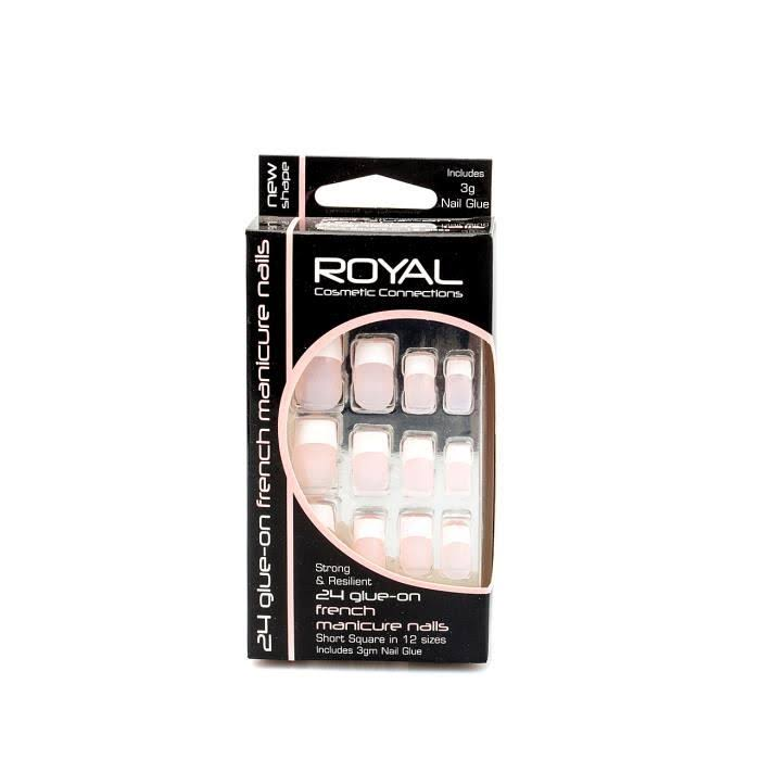 Royal 24 Glue on French Manicure Nails