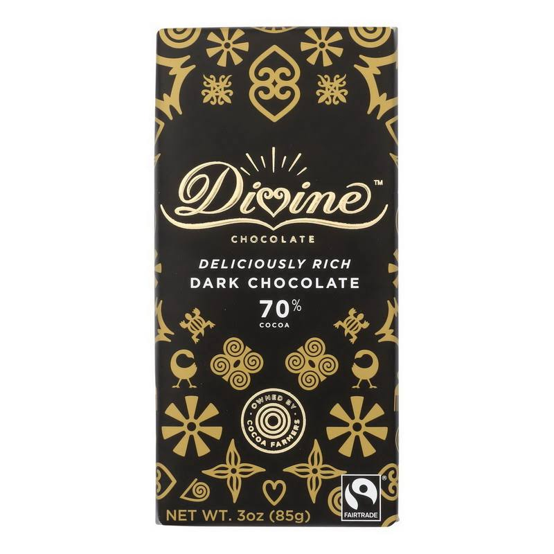 Divine 70% Dark Chocolate (3 oz. Bar)
