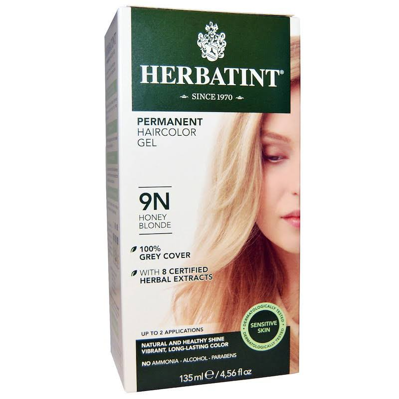 Herbatint Haircolor Gel, Permanent, Honey Blonde 9N - 135 ml