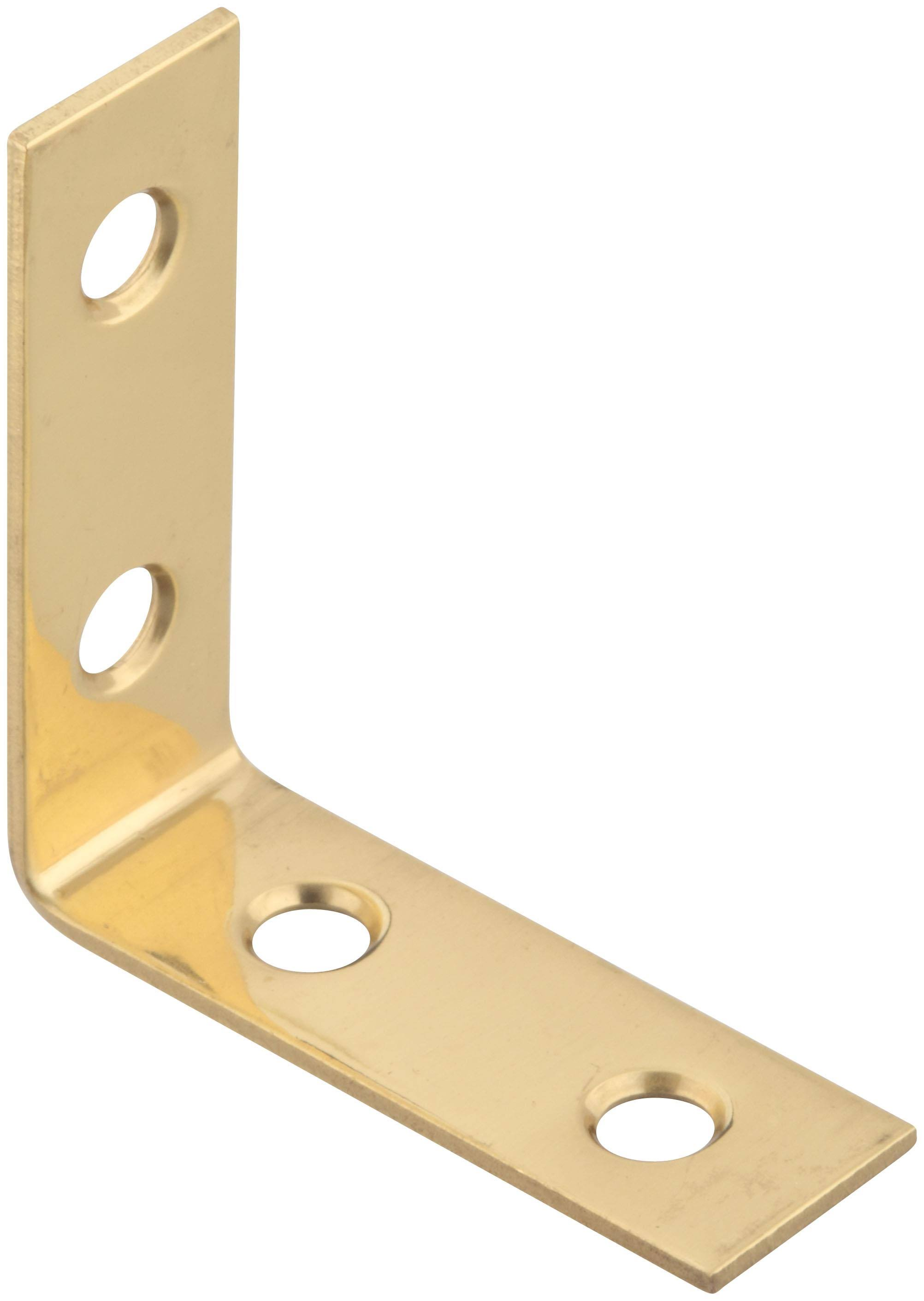 National Manufacturing Corner Brace - Brass