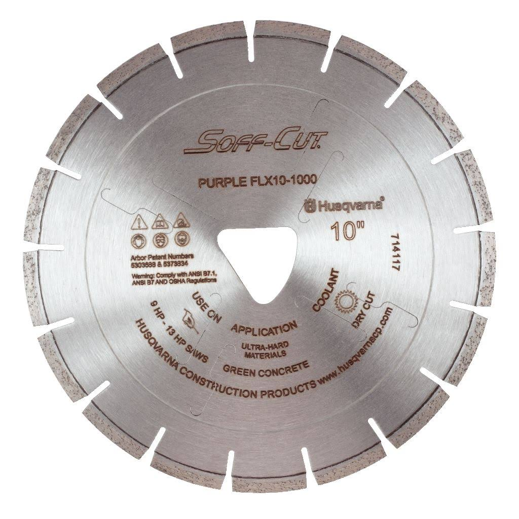"Husqvarna 8""x.100 FLX 1000 Purple Diamond Blade"